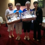 Winners prizes were beautiful hampers sponsored by BM Stairlifts