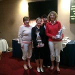 Sharing the Prizes! Ladies golf competition winners. Prized sponsored by BM Stairlifts